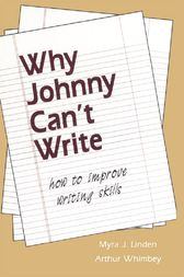Why Johnny Can't Write