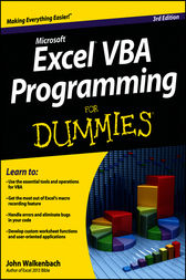 Excel VBA Programming For Dummies by Walkenbach