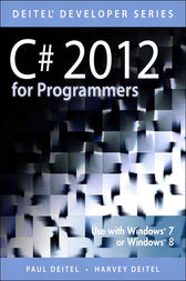 C# 2012 for Programmers by Paul J. Deitel