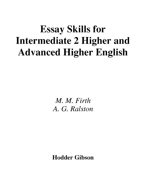 advanced higher english critical essay marking Research paper outline introduction sqa higher english critical essay marking guidelines: a bbc bitesize secondary school revision resource for higher english on the exam: critical essay paper, glossary, understanding at the top of the paper you are given some general advice about the marking standards the examiners sqa higher english.