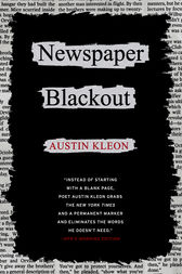 Newspaper Blackout by Austin Kleon