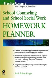 School Counseling and School Social Work Homework Planner by Sarah Edison Knapp