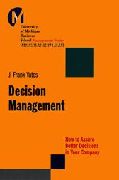 Decision Management by J. Frank Yates