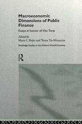 Macroeconomic Dimensions of Public Finance by Mario Blejer