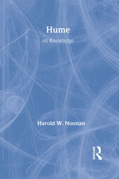 Routledge Philosophy GuideBook to Hume on Knowledge by Harold Noonan
