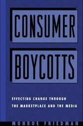 Consumer Boycotts by Monroe Friedman