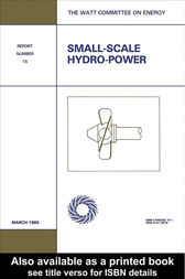 Small-Scale Hydro-Power by Watt Committee on Energy Publications