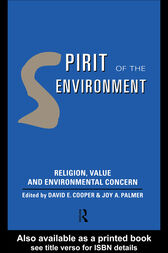Spirit of the Environment by David E Cooper