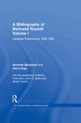 A Bibliography of Bertrand Russell by Kenneth Blackwell