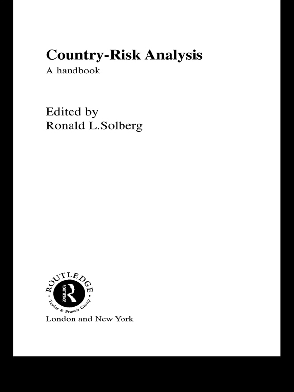 Download Ebook Country Risk Analysis by Ronald L. Solberg Pdf