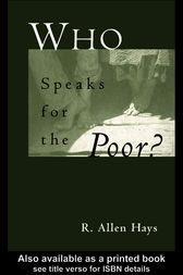 Who Speaks for the Poor by Richard A. Jr Hays