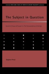 The Subject in Question by Stephen Priest