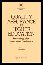 Quality Assurance In Higher Education by Alma Craft