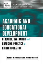 Academic and Educational Development by Ranald Macdonald