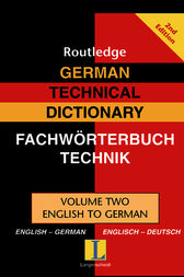 German Technical Dictionary (Volume 2) by Routledge
