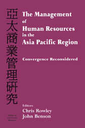 The Management of Human Resources in the Asia Pacific Region by Chris Rowley