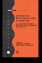 Language, Discourse and Literature by Ronald Carter