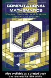 Computational Mathematics by Robert E. White