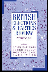 British Elections & Parties Review by Colin Rallings