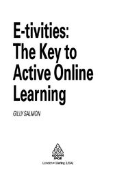 E-Tivities by Gilly Salmon