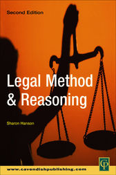 Legal Method and Reasoning by Sharon Hanson