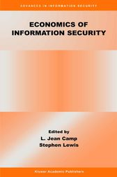 Economics of Information Security by L. Jean Camp