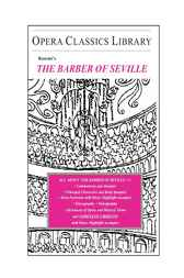 Rossini's THE BARBER OF SEVILLE by Burton D. Fisher