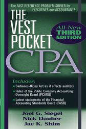 The Vest Pocket CPA by Joel G. Siegel