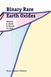 Binary Rare Earth Oxides by G. Adachi