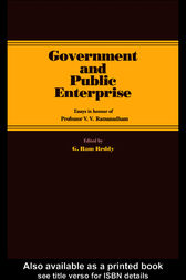 Government and Public Enterprise by G. Ram Reddy