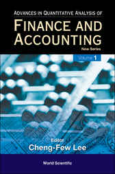 Advances In Quantitative Analysis Of Finance And Accounting - New Series by Cheng-Few Lee