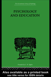 Psychology And Education by Robert Morris Ogden
