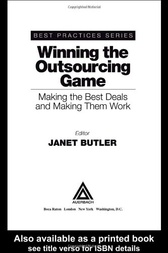 Winning the Outsourcing Game by Janet Butler