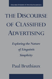 The Discourse of Classified Advertising by Paul Bruthiaux