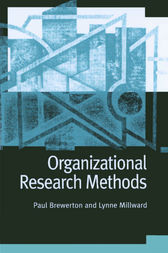 Organizational Research Methods by Paul M Brewerton