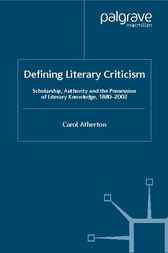 Defining Literary Criticism by Carol Atherton