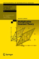 Multiplicative Invariant Theory by Martin Lorenz