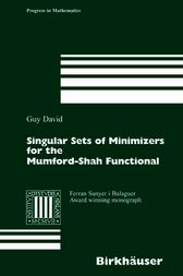 Singular Sets of Minimizers for the Mumford-Shah Functional by Guy David