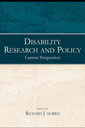 Disability Research and Policy by Richard J. Morris