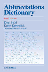Abbreviations Dictionary, Tenth Edition by Dean A. Stahl