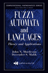Fuzzy Automata and Languages by John N. Mordeson