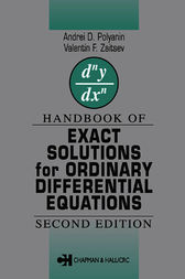 Handbook of Exact Solutions for Ordinary Differential Equations by Valentin F. Zaitsev