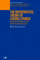 The Mathematical Theory of Cosmic Strings by M.R. Anderson