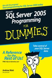 Microsoft SQL Server 2005 Programming For Dummies by Andrew Watt