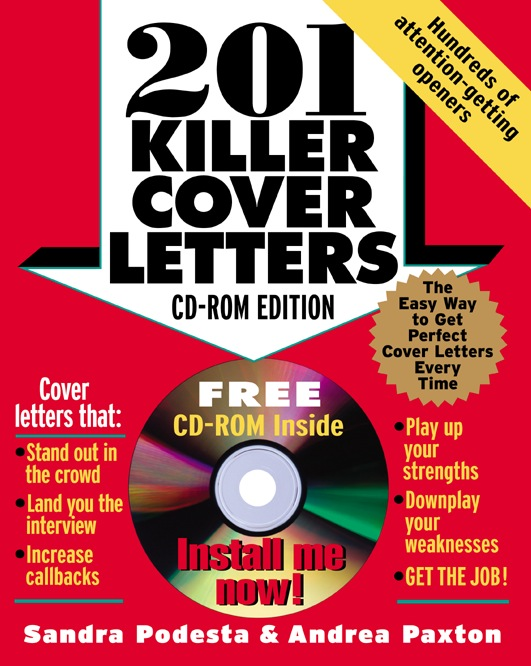 Download Ebook 201 Killer Cover Letters (CD-ROM edition) by Sandra Podesta Pdf