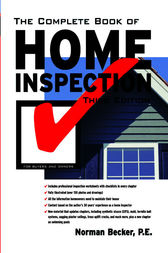 The Complete Book of Home Inspection by Norman Becker