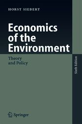 Economics of the Environment by Horst Siebert