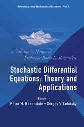 Stochastic Differential Equations by Peter H Baxendale