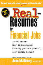 Real-Resumes for Financial Jobs by Anne McKinney