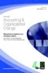 Management Accounting in Less Developed Countries by Chandana Alawattage